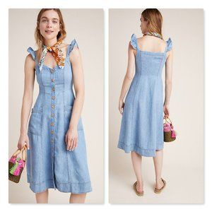 Anthropologie Pilcro Rostand Button Front Dress